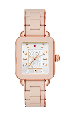 Michele Deco Sport Pink Gold Desert Rose Wrapped Silicone Watch MWW06K000018 product image