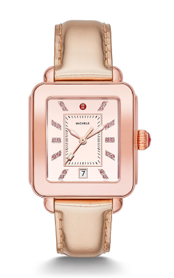 Michele Deco Sport High Shine Pink Gold and Pink Leather Watch MWW06K000022 product image
