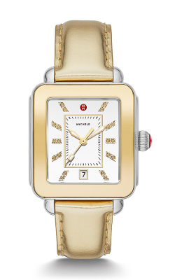 Michele Deco Sport High Shine Two-Tone And Gold Leather Watch MWW06K000024 product image