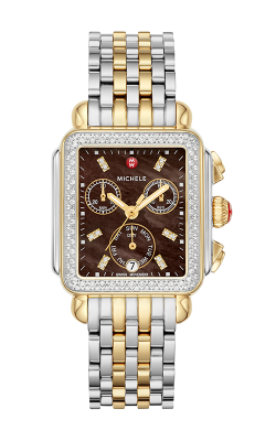 Michele Signature Deco Two-Tone Diamond Watch MW06P01C5136_MS18AU285048