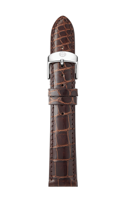Michele 16mm Chocolate Alligator Strap MS16AA010202 product image