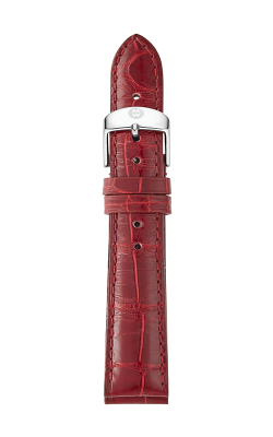 Michele 18mm Cabernet Alligator Strap MS18AA010607 product image