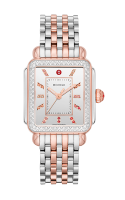 Michele Deco Carousel Dial Two-Tone 18k Pink Gold Diamond Watch MW06T01L8140 MS18AU775045 product image