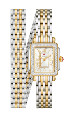Michele Deco Mini Two-Tone 18k Gold Diamond Watch MWW06D000163 product image