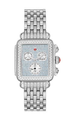 Michele Deco Stainless Pavé Sapphire And Diamond Watch MWW06P000298 product image
