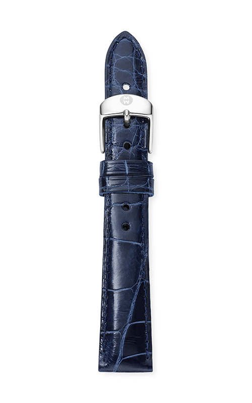Michele 16mm Navy Alligator Strap MS16AA010400 product image