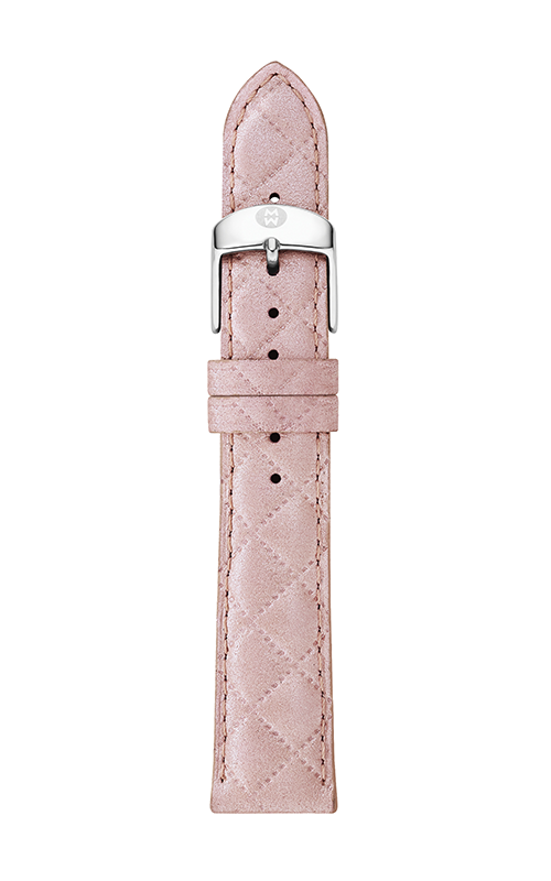 Michele 16mm Pearl Pink Quilted Leather Strap MS16AA370748 product image