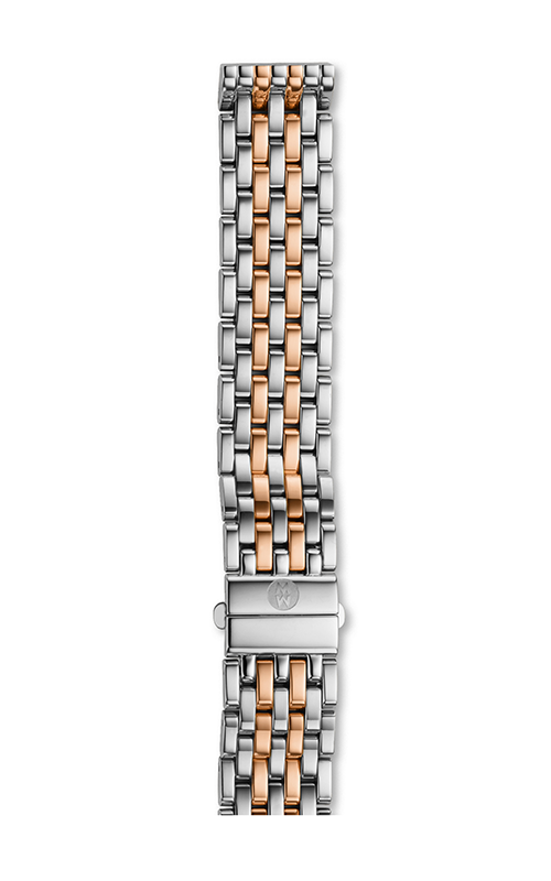 Michele 16mm Deco Mid 7-Link Two-Tone Rose Gold Bracelet MS16DM315750 product image