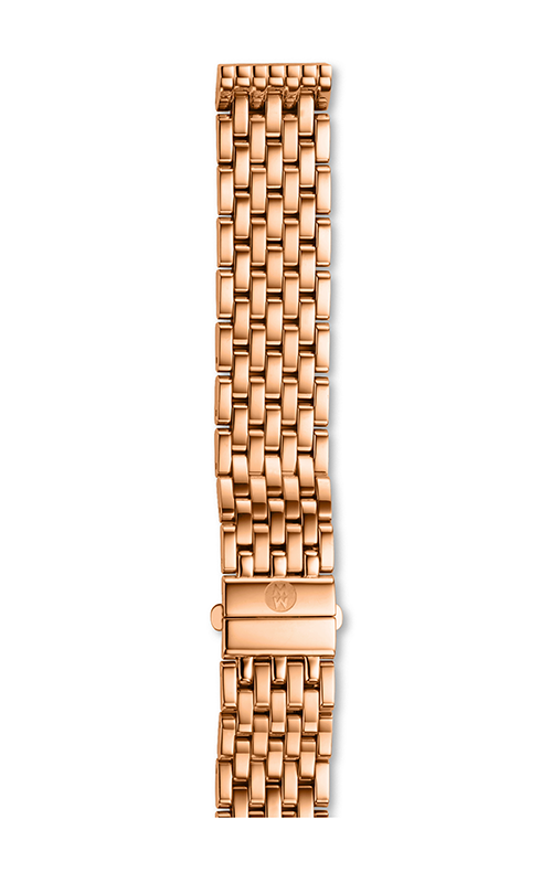 Michele 16MM Deco Mid 7-Link Rose Gold Bracelet MS16DM267715 product image