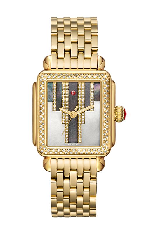 Michele Deco Skyline Diamond Gold, Cocoa Diamond Dial product image