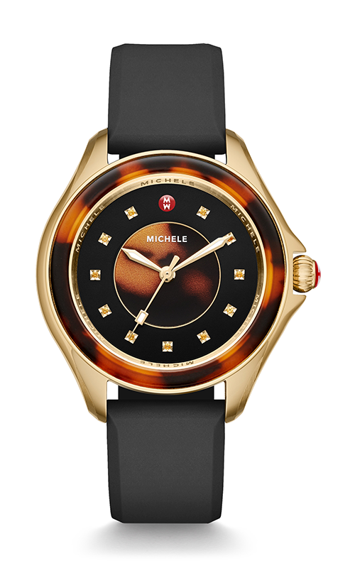 Michele Cape Black Gold, Tort Topaz Dial Watch MWW27A000027 product image