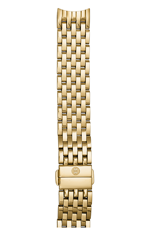 Michele 18MM Sidney Gold-Plated 7-link Bracelet MS18GA246710 product image
