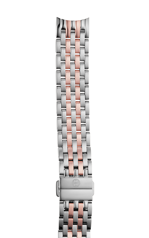 Michele 18mm Sidney Two-Tone Pink Gold 7-Link Bracelet MS18GA775045 product image