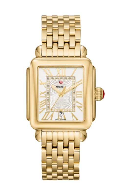 Michele Deco Madison Gold Diamond Dial Watch MW06T00A9018_MS18AU246710 product image
