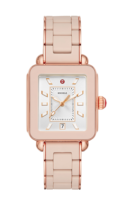 69ef06601 Michele Deco Sport Pink Gold Desert Rose Wrapped Silicone Watch  MWW06K000018 product image