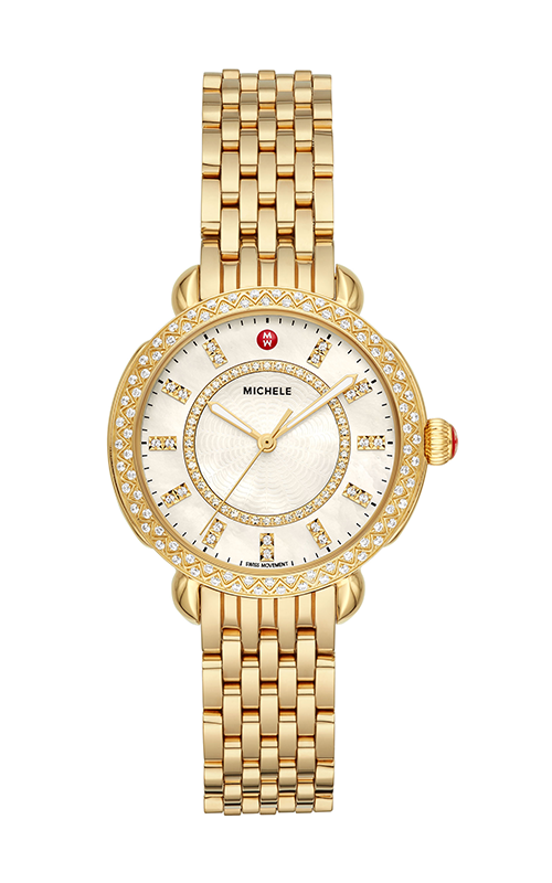 Michele Sidney Classic Gold Diamond Watch MWW30B000004
