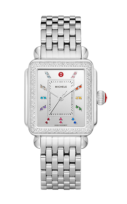 Michele Deco Carousel Dial Stainless Steel Diamond Watch MW06T01A0139_MS18AU235009 product image