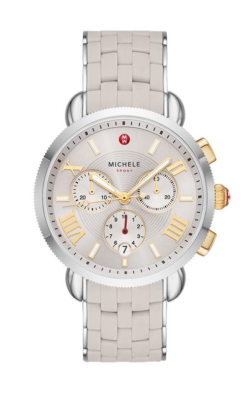 Michele Sporty Sports Sail Wheat Watch, Two-Tone MWW01P000012