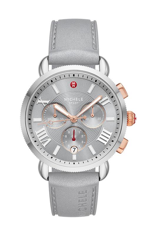 Michele Sporty Sports Sail Slate Watch, Two-Tone Pink Gold MWW01P000011