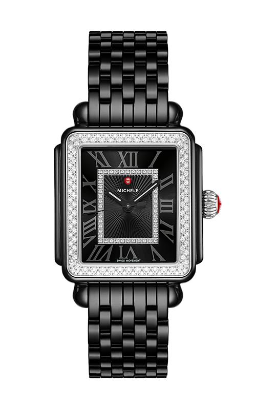 Michele Deco Madison Diamond Watch, Black Ceramic MWW06T000226