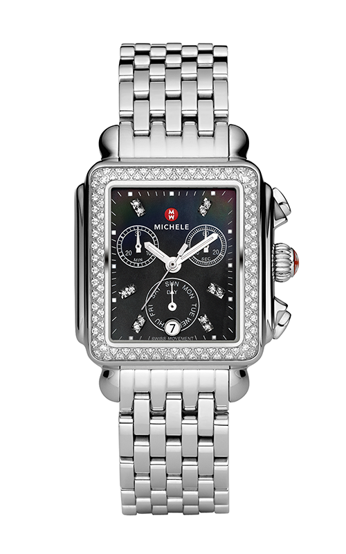 Signature Deco Diamond, Black Diamond Dial Watch product image