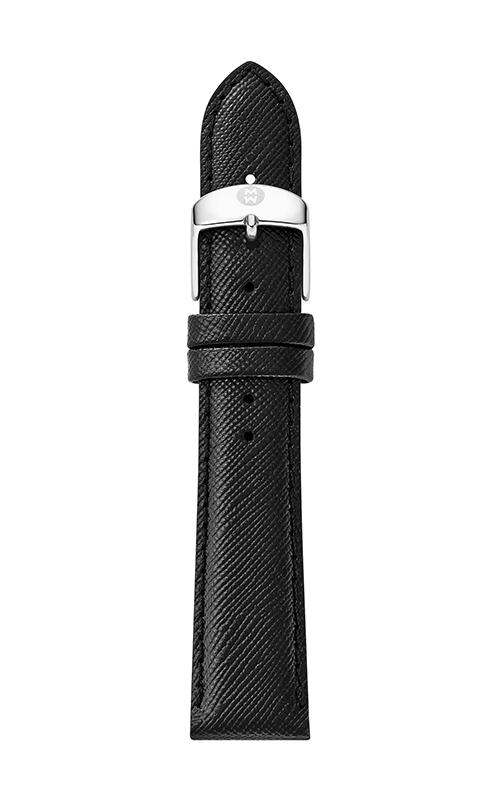 Michele 18mm Black Saffiano Strap MS18AA060018 product image