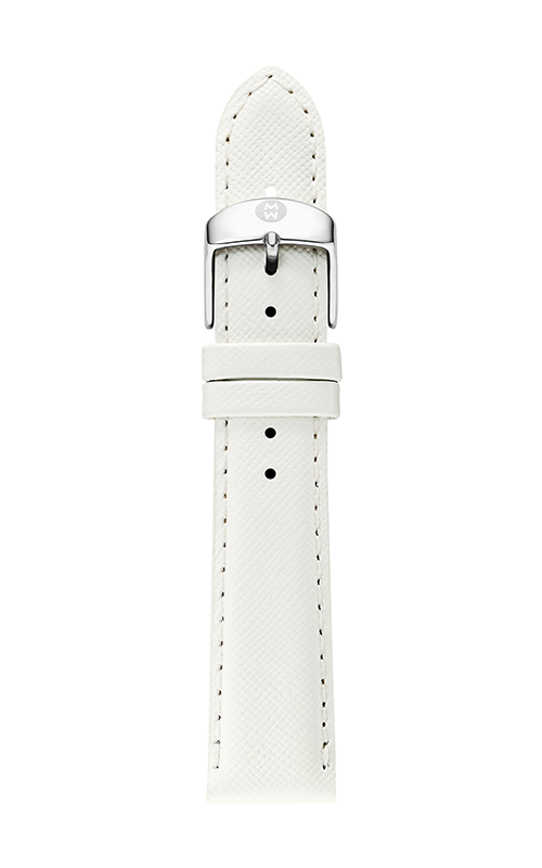 Michele 18mm White Saffiano Strap MS18AA060151 product image