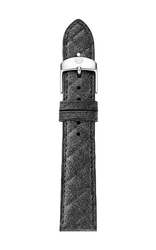 Michele 18mm Grey Quilted Leather Strap MS18AA370494 product image