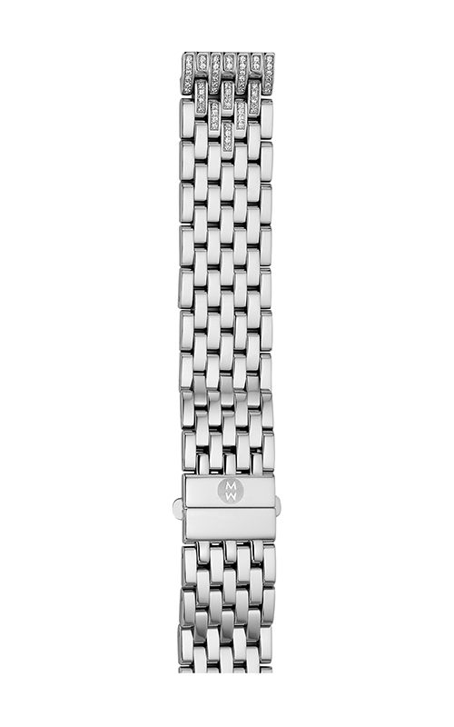 Michele 16mm Deco 16 7-Link Taper Steel Bracelet with Diamonds MS16FG235009 product image