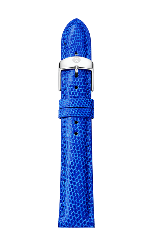 Michele 18mm Cobalt Lizard Strap MS18AA030402 product image