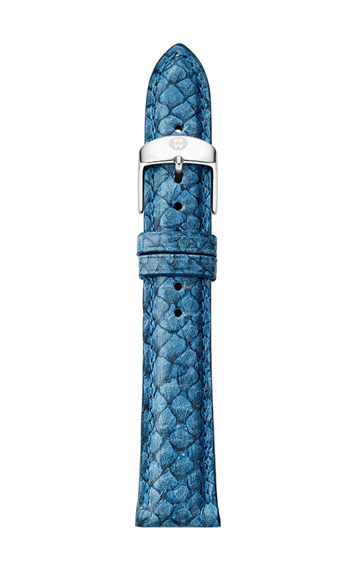 Michele 16mm Seamist Blue Fish Skin Strap MS16AA560095 product image