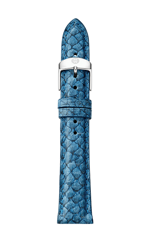 Michele 18mm Seamist Blue Fish Skin Strap MS18AA560095 product image