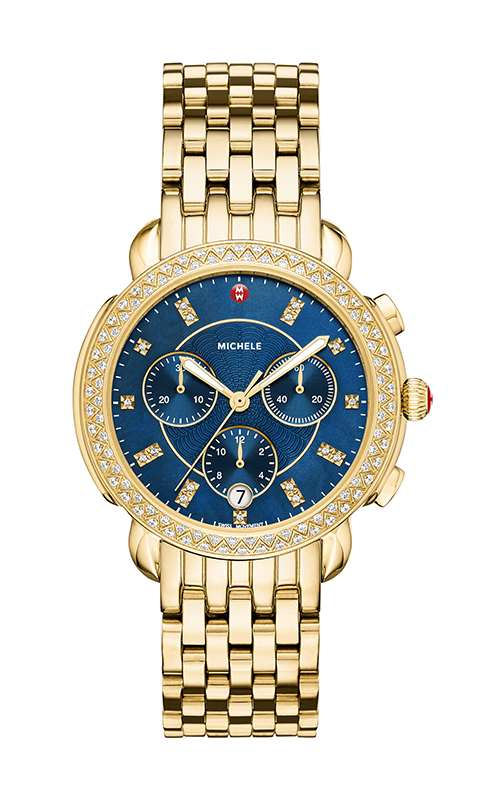 Michele Sidney Diamond Gold, Navy Diamond Dial Watch MW30A01B0956_MS18GA246710 product image