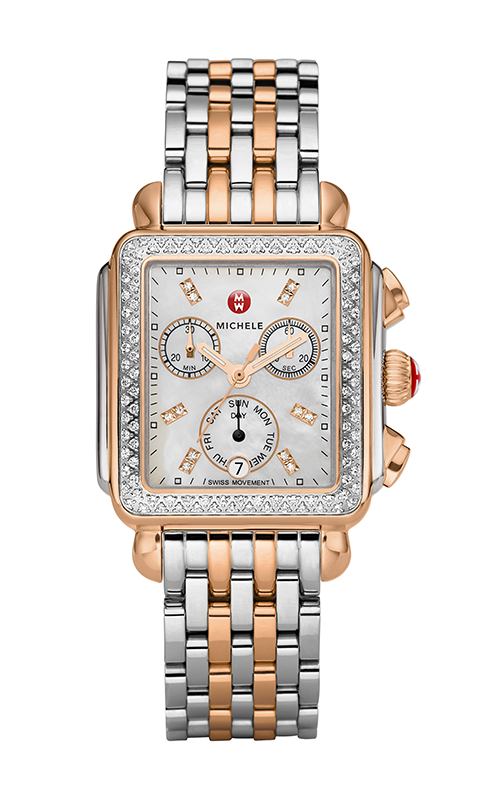 Michele Signature Deco Diamond Two-tone Rose Gold, Diamond Dial Watch MW06P01D2046_MS18AU315750 product image