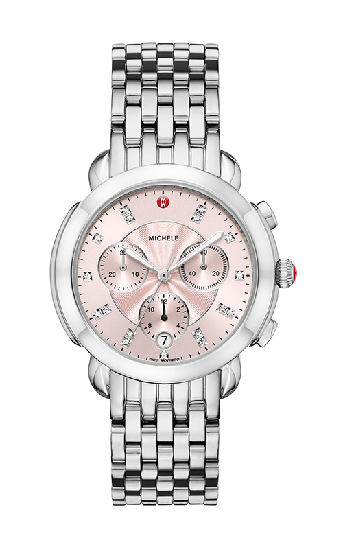 Michele Sidney Stainless-steel and Blush Diamond Dial Watch MW30A00A0115_MS18GA235009 product image