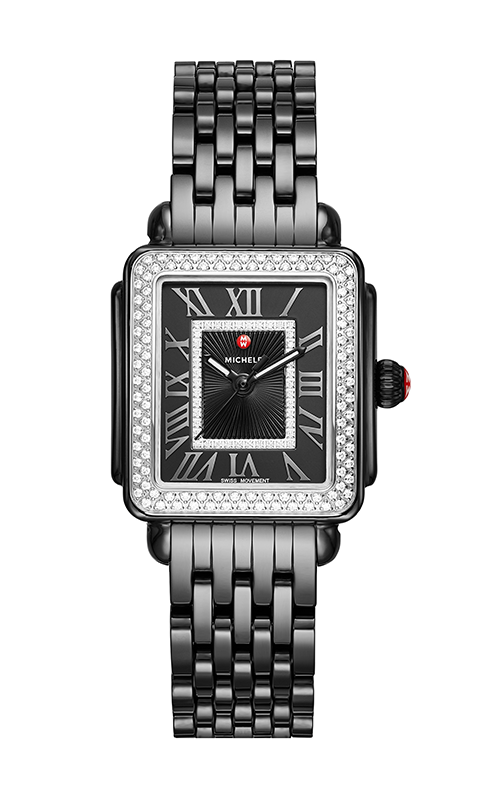 Michele Deco Madison Mid Noir Ceramic Diamond Watch MWW06G000008 product image