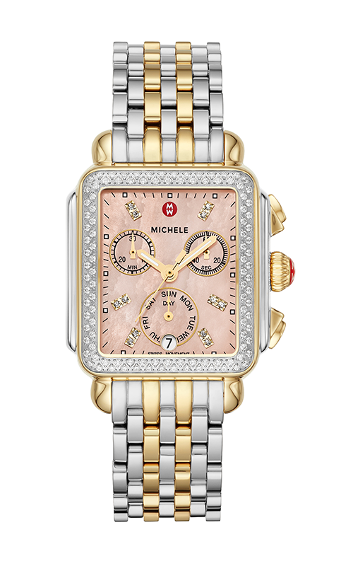 Michele Signature Deco Two-Tone Diamond Watch MW06P01C5134_MS18AU285048 product image