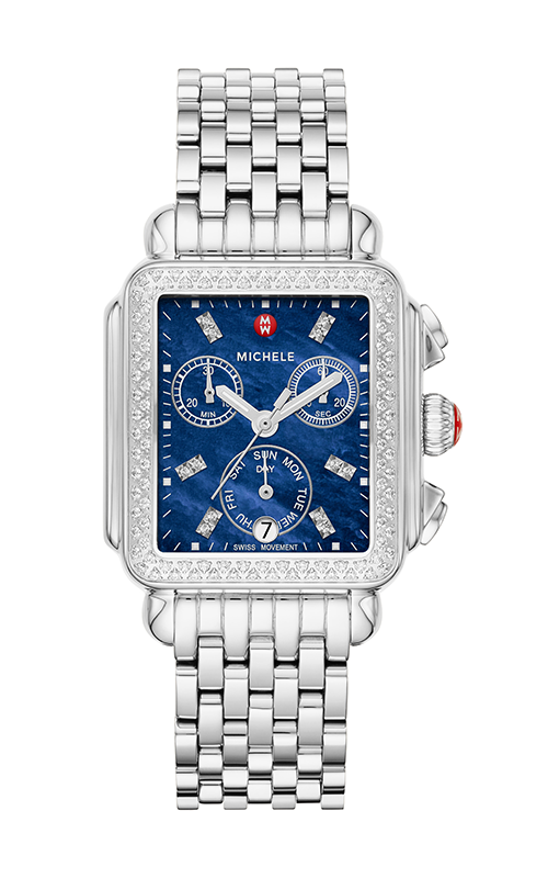 Michele Signature Deco Stainless-Steel Diamond Watch MW06P01A1135_MS18AU235009 product image