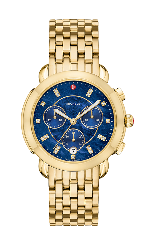 Michele Sidney Gold Diamond Dial Watch MW30A00A9135_MS18GA246710 product image
