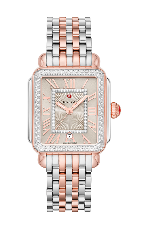 Michele Deco Madison Two-Tone Pink Gold Diamond Watch MW06T01L8113_MS18AU775045 product image