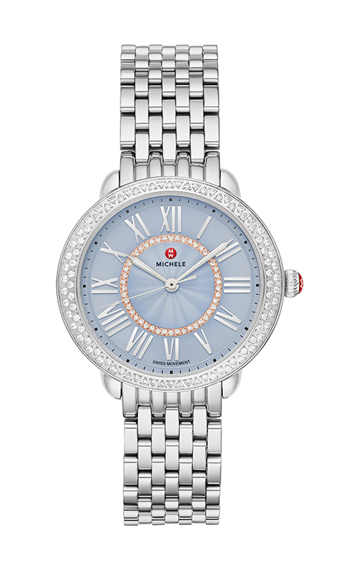 Michele Serein Mid Stainless Diamond Dial Watch MWW21B000149 product image
