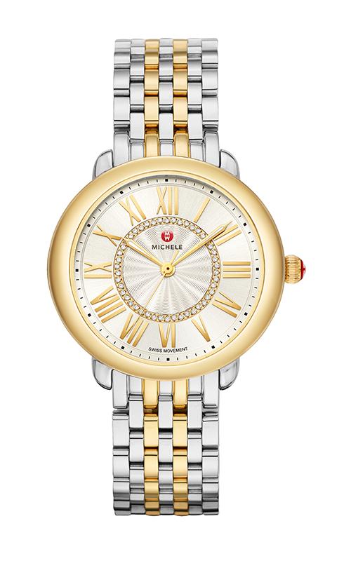 Michele Serein Mid Two-Tone 18k Diamond Dial Watch MWW21B000148 product image