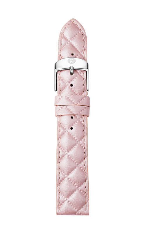 Michele 18mm Lilac Quilted Leather Strap MS18AA370534   product image