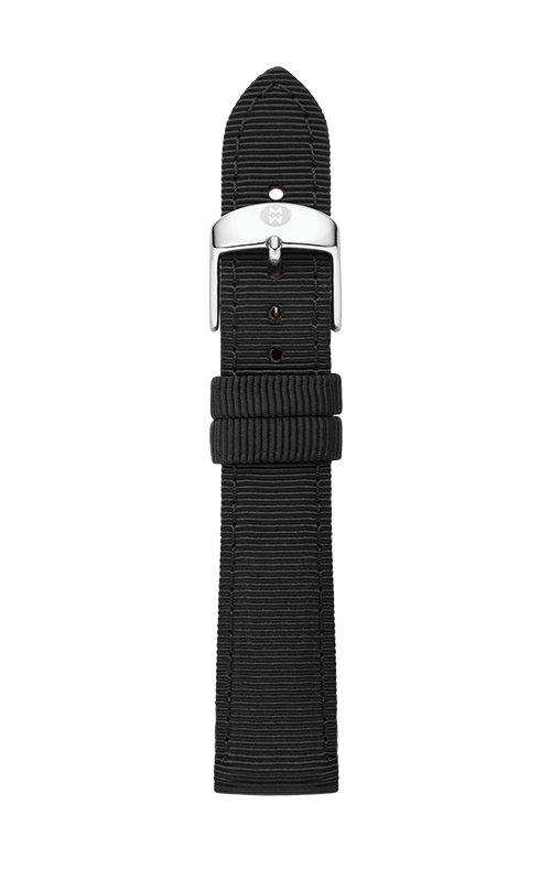Michele 18mm Onyx Grosgrain Strap MS18AC100021   product image