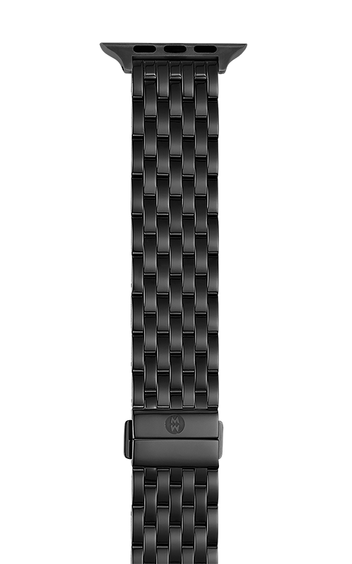 Michele 38/40mm and 42/44mm Black IP-Plated Bracelet Band for Apple Watch® MS20GL479001   product image
