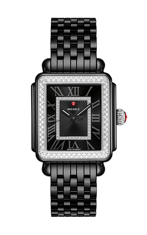 Michele Deco Madison Diamond Watch, Black Ceramic MWW06T000226 product image