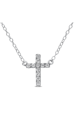 Odelia Diamond Cross Pendant Necklace With Chain ANK-10170 product image