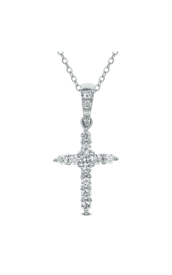 Odelia Diamond Cross Pendant with Chain ACR-6692 product image