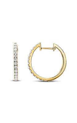 Odelia Diamond Round Hoop Earrings AER-5783 product image