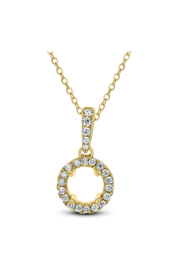 Odelia Diamond Open Circle Shaped Pendant With Chain APD-5071 product image